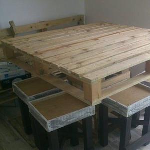 Muebles hechos con tarimas posot class for Muebles de tarimas recicladas