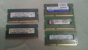Ram Ddr3 Laptop 2gb (pack 2 Modulos 1gb C/u) Envio Gratis