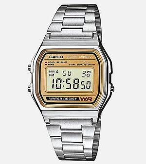 Reloj Caballero Retro Vintage A158wea-9cf Plata/dorado Casio