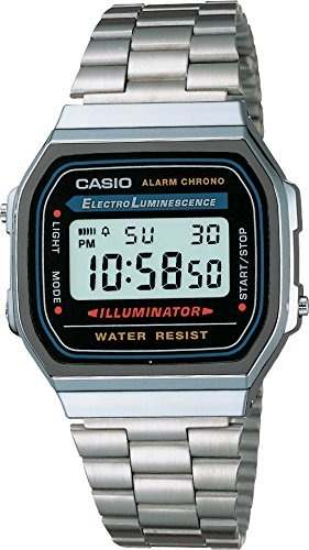 Reloj Caballero Retro Vintage Aw Gris Plata/negro Casio
