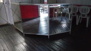 mueble para oficina recepción mostrador de cristal