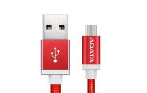 Adata Cable Micro Usb Celular V8 Original Carga Y Datos Rojo