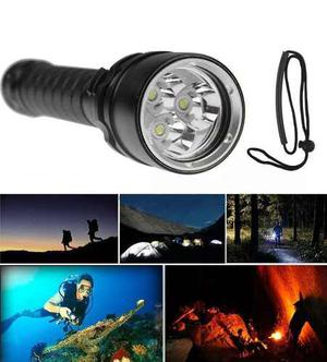 Lampara  Lumens Buceo Sumergible Recargable Linterna Led