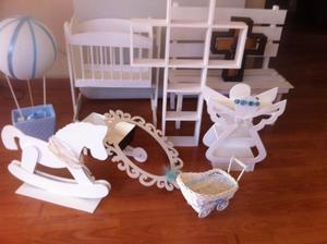 Paquete de muebles y adornos para el cuarto de tu bebe