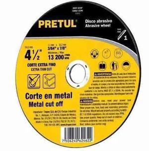 Disco Abrasivo Corte Fino Metal Tipo  Mm