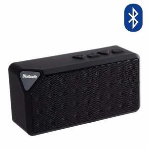 Bocinas Bluetooth X3 Inalámbrica Recargable Portátil Negra