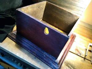 Caja De Madera Para Fonografo Antigua