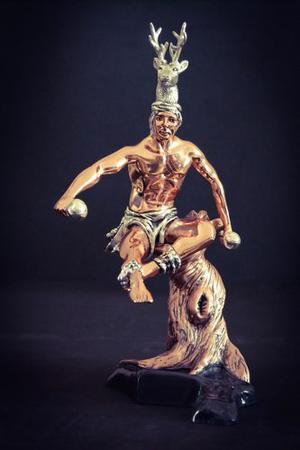 Escultura Danza Del Venado Plata 999 Electroformado Figura