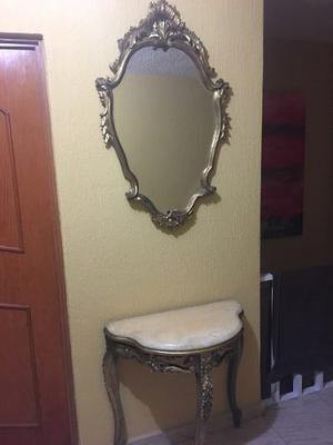 Espejo Y Consola Antigua Luis Xv