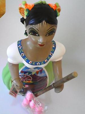 Figuras De Ceramica Lupitas Artesania Mexicana