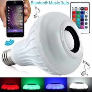 Foco Bocina Bluetooth 12w Multicolor Led
