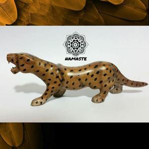 Jaguar Tallado En Madera - Artesanía Cubana (envío Gratis)