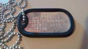 Placa De Id. Y Cadena Acero Inoxidable/dog-tag+envio Gratis