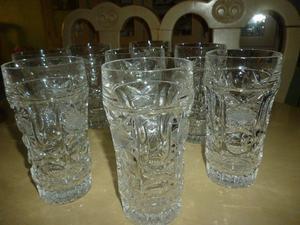 Preciosos vasos de cristal de plomo