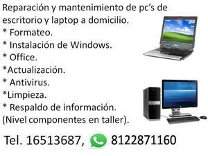 Reparacion de computadoras de escritorio y laptops a