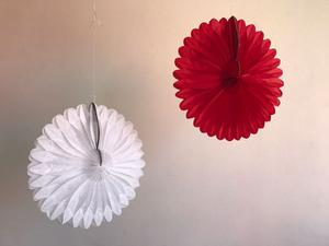 Rosetas (flores) De Papel China Colores.