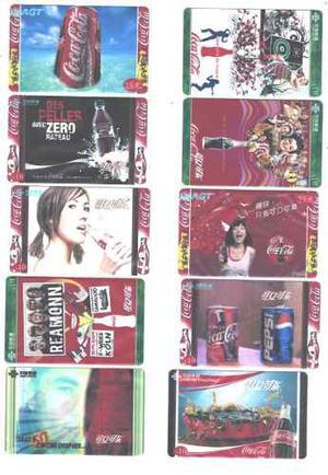20 Tarjetas De Telefono De Coca Cola Diferntes De China Agt