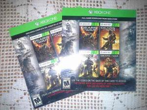 Codigos Gears Of War 1, 2, Judgment 80 C/u Xbox Pack