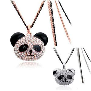 Regalo Oso Panda Collar Swarovski Element Envío Gratis!!!