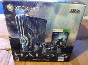 Xbox 360 Edición Halo En Caja Disco Duro De 250gb Un