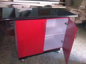Mueble barra desayunador alacena posot class for Muebles de cocina tipo isla