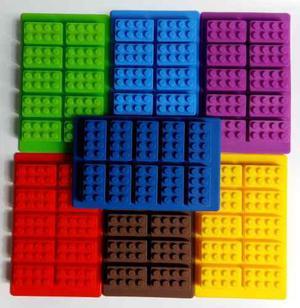 Bloques Lego Molde De Silicon Para Hielos Chocolate Gomitas