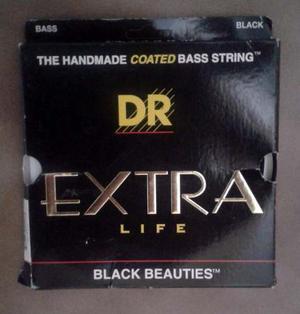 Cuerdas Para Bajo D R Black Beauties Extra Life Envío