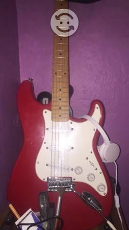 Fender squier affinity roja brazo de maple