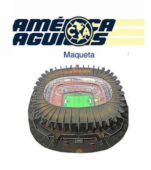 Maqueta Del Estadio Azteca Nanostand Con Luz Led Instalada