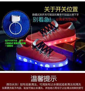 Remate Zapato/ Tenis Con Luz Led Diferentes Modelos
