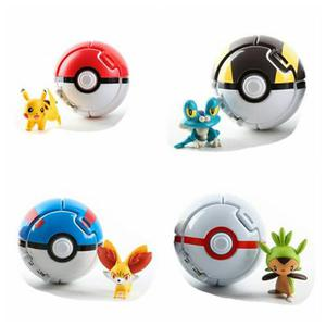 4 Pokeball + 4 Pokemon Envio Gratis Pokebolas Throw Ball Pop