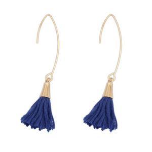 8109b085cdb2 Aretes largos pompones borlas flecos colores accesorio mujer