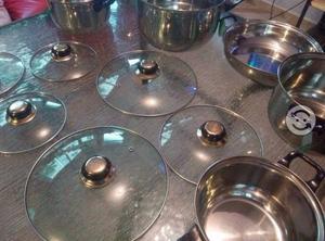 Bateria de cocina de acero inoxidable