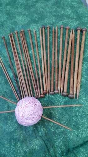 Agujas Para Tejer De Bambu 36 Piezas (18 Pares)