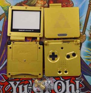 Carcasa Game Boy Advance Sp Gba Sp Zelda Dorada + Regalos