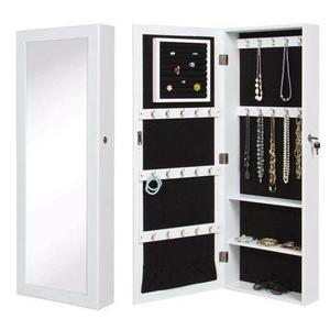 Gabinete De Pared Espejo, Joyero Y Organizador Color Blanco