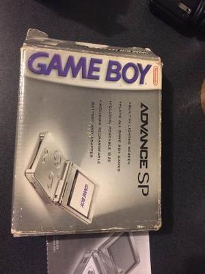 Gameboy Advance Sp De Una Luz Restaurado Con Caja.