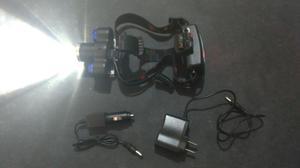 Lámpara de 3 LED para cabeza batería recargable cargador