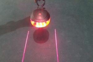 Luz trasera para bicicleta 5 LED 2 Láser soporté