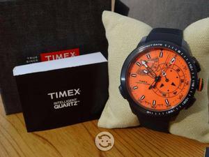 Reloj timex nuevo yatch racer naranja,6 manecillas