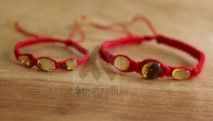 Set 12 Pulseras De Ambar Con Hilo Rojo De La Buena Suerte