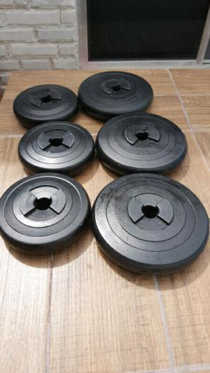 Set de 6 pesas de gym