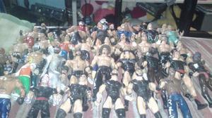 LOTE DE FIGURAS DE LA WWE & TRIPLE AAA BOOTLEG MEXICO