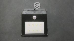 Luz LED panel solar sensor d movimiento recargable