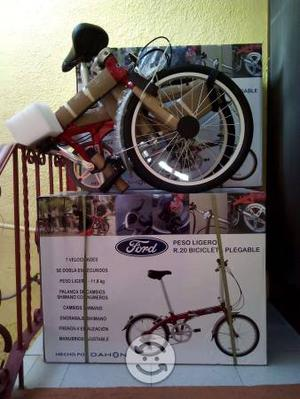Bicicleta plegable de aluminio nueva