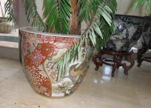 Jarrones chinos porcelana con base