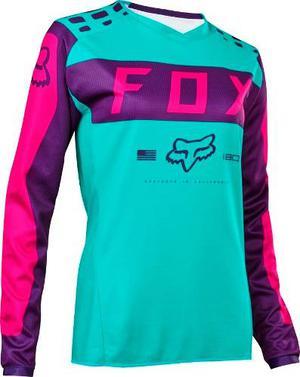 Jersey Fox 180 Mujer Morado Talla M Motocross Mtb Downhill