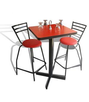 Mesa Periquera Y 4 Bancos Bar Lounge Restaurante