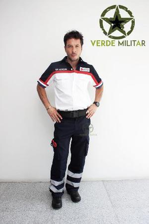 Pantalon Bolsas De Cargo Con Cintas Reflejantes Paramedico
