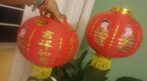 dos lamparas chinas